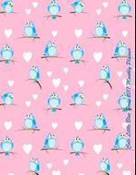 Cute Little Blue Birds 2017 Monthly Planner