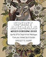 Spirit Animals Adult Coloring Book
