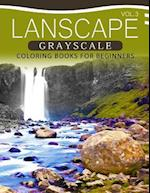 Landscapes Grayscale Coloring Books for Beginners Volume 3