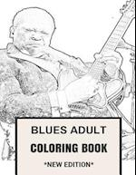 Blues Adult Coloring Book