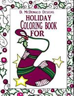 D.McDonald Designs Holiday Coloring Book for