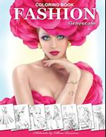 Fashion Coloring Book. Grayscale