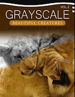 Grayscale Beautiful Creatures Coloring Books for Beginners Volume 2