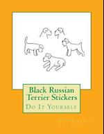 Black Russian Terrier Stickers