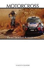 Motocross Pocket Monthly Planner 2017