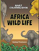 Adult Coloring Book Africa Wild Life