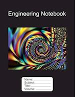 Engineering Notebook 8.5x11 100 Pages Graph Paper Fractal Edition