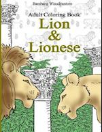 Adult Coloring Book, Lion & Lionese
