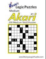 Brainy's Logic Puzzles Medium Akari #1 200 Medium 10x10 Puzzles