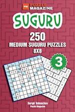 Suguru - 250 Medium Suguru Puzzles 8x8 (Volume 3)