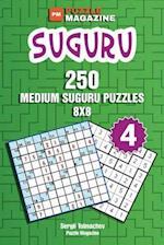 Suguru - 250 Medium Suguru Puzzles 8x8 (Volume 4)