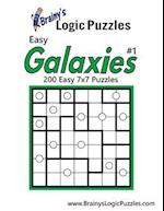 Brainy's Logic Puzzles Easy Galaxies 7x7 #1