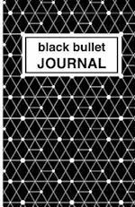 Black Bullet Journal - Cuaderno de Puntos Negro Estampado