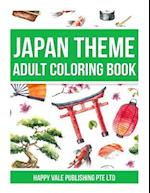 Japan Theme Adult Coloring Book