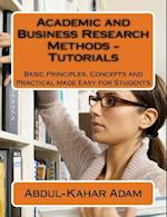Academic and Business Research Methods - Tutorials