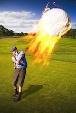 Hot Shot Golfer with Burning Golf Shot Journal