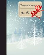 Primary Composition Book - Christmas Snowflake