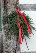Holiday Greenery with a Red Ribbon Journal