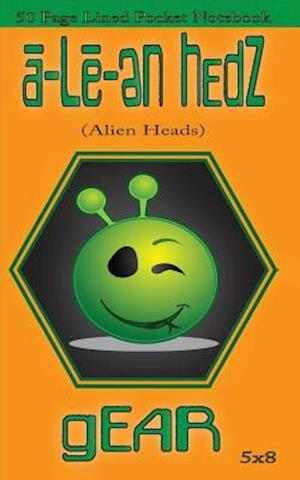 A-Le-En Hedz (Alien Heads) Gear 50 Page Lined Pocket Notebook af A-Le-En Hedz Gear