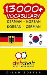 13000+ German - Korean Korean - German Vocabulary
