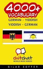 4000+ German - Yiddish Yiddish - German Vocabulary