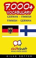 7000+ German - Finnish Finnish - German Vocabulary