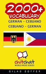 2000+ German - Cebuano Cebuano - German Vocabulary