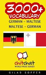 3000+ German - Maltese Maltese - German Vocabulary