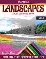 Grayscale Landscapes Adult Coloring Book Vol.1