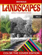 Grayscale Landscapes Adult Coloring Book Vol.2