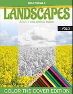 Grayscale Landscapes Adult Coloring Book Vol.3