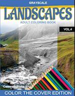Grayscale Landscapes Adult Coloring Book Vol.4