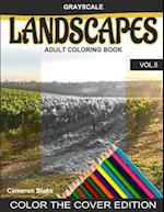 Grayscale Landscapes Adult Coloring Book Vol.5