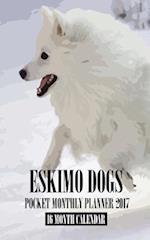 Eskimo Dogs Pocket Monthly Planner 2017