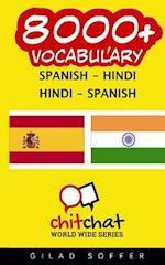 8000+ Spanish - Hindi Hindi - Spanish Vocabulary