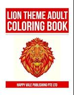Lion Theme Adult Coloring Book