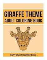 Giraffe Theme Adult Coloring Book