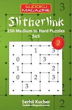 Slitherlink - 250 Medium to Hard Puzzles 5x5