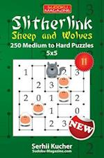 Slitherlink. Sheep and Wolves - 250 Medium to Hard Puzzles 5x5