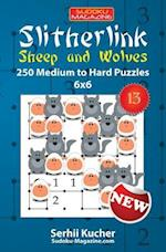 Slitherlink. Sheep and Wolves - 250 Medium to Hard Puzzles 6x6