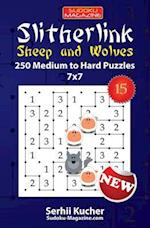 Slitherlink. Sheep and Wolves - 250 Medium to Hard Puzzles 7x7