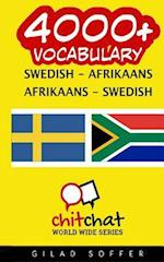 4000+ Swedish - Afrikaans Afrikaans - Swedish Vocabulary