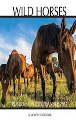 Wild Horses Pocket Monthly Planner 2017