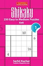 Shikaku - 250 Easy to Medium Puzzles 6x6