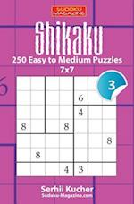 Shikaku - 250 Easy to Medium Puzzles 7x7