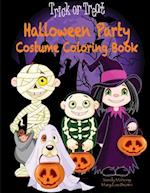 Halloween Party Costume Coloring Book
