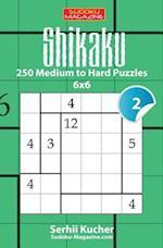 Shikaku - 250 Medium to Hard Puzzles 6x6