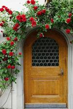Red Climbing Roses Over the Front Door Journal
