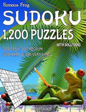 Bog, paperback Famous Frog Sudoku 1,200 Puzzles with Solutions. 300 Easy, 300 Medium, 300 Hard & 300 Very Hard af Dan Croker