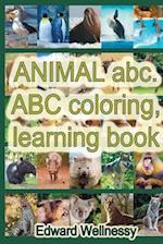 Animal ABC. ABC Coloring, Learning Book af Edward Wellnessy